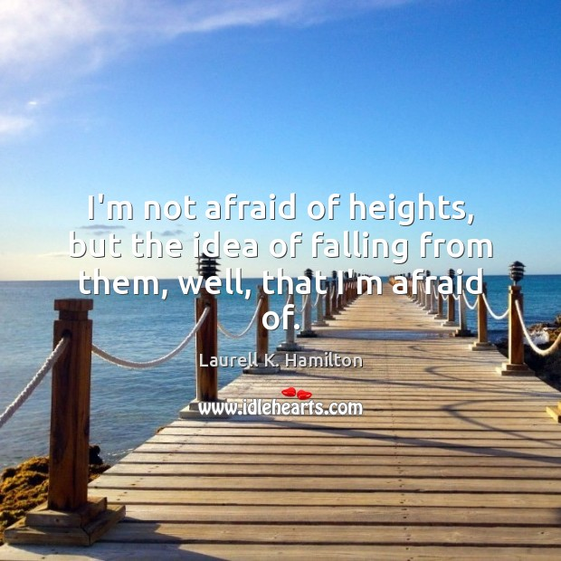 Image, I'm not afraid of heights, but the idea of falling from them, well, that I'm afraid of.