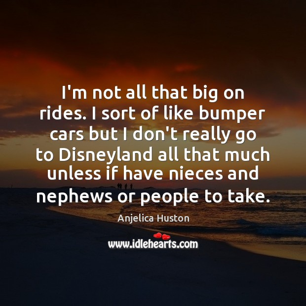 Image, I'm not all that big on rides. I sort of like bumper