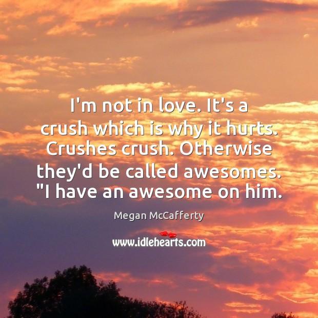 I'm not in love. It's a crush which is why it hurts. Image