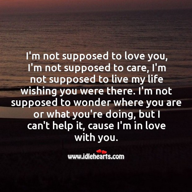 I'm not supposed to love you, but I can't. Image