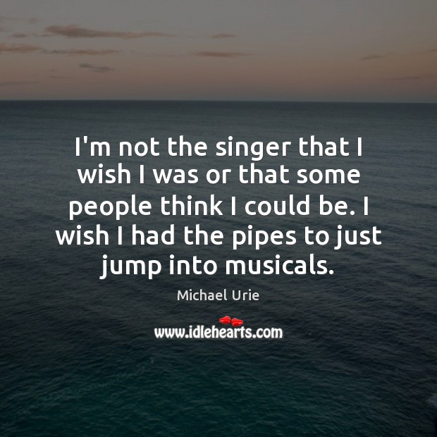 I'm not the singer that I wish I was or that some Image