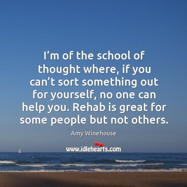 I'm of the school of thought where, if you can't sort something out for yourself Image