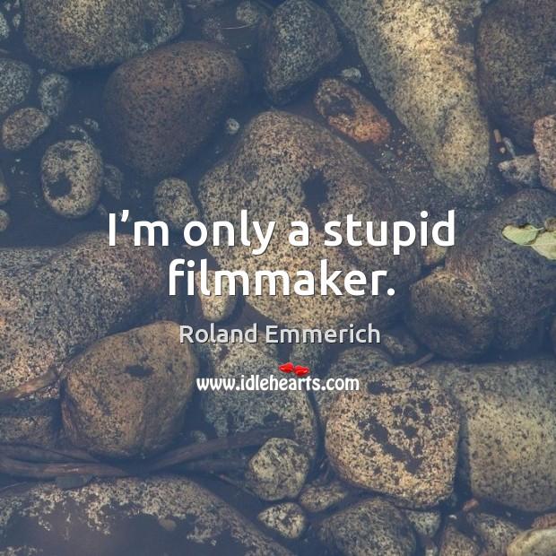 I'm only a stupid filmmaker. Image