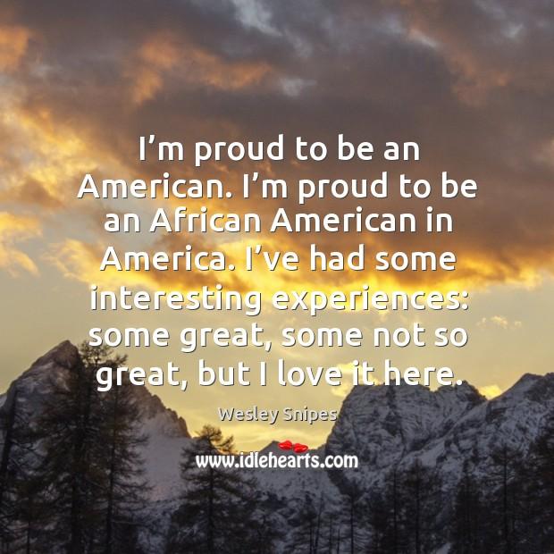 I'm proud to be an american. I'm proud to be an african american in america. Image