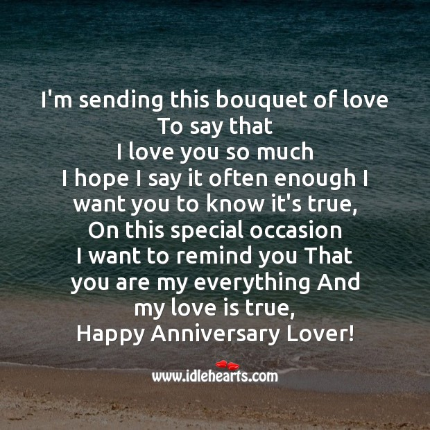 I'm sending this bouquet of love to say that Love You So Much Quotes Image