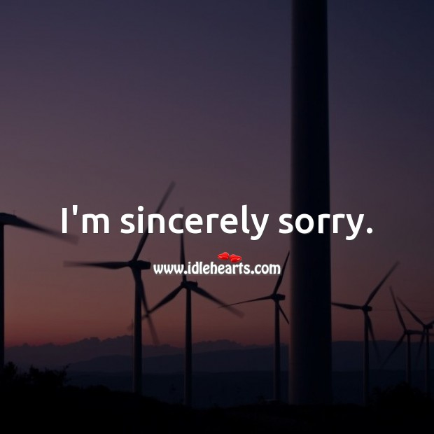 I'm Sorry Messages