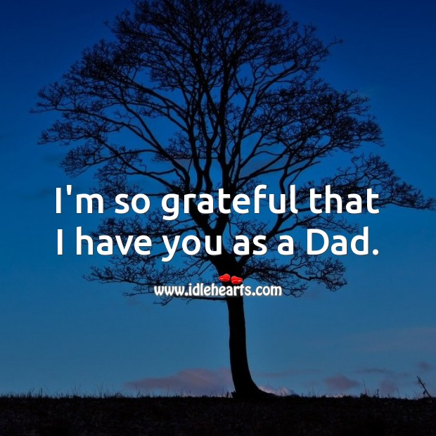 I'm so grateful that I have you as a Dad. Birthday Messages for Dad Image