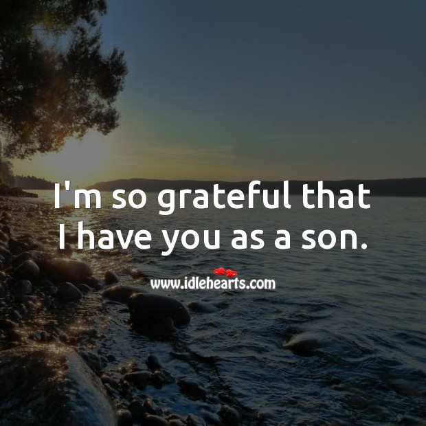 I'm so grateful that I have you as a son. Birthday Messages for Son Image