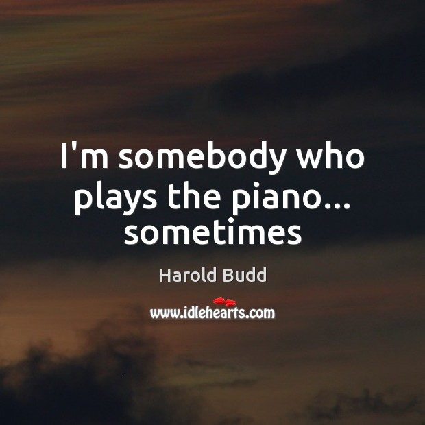 I'm somebody who plays the piano… sometimes Image