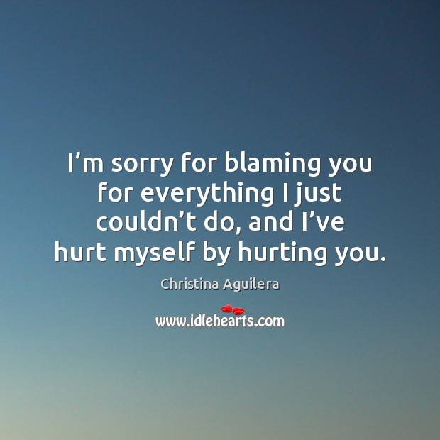 Im Sorry For Blaming You For Everything I Just Couldnt