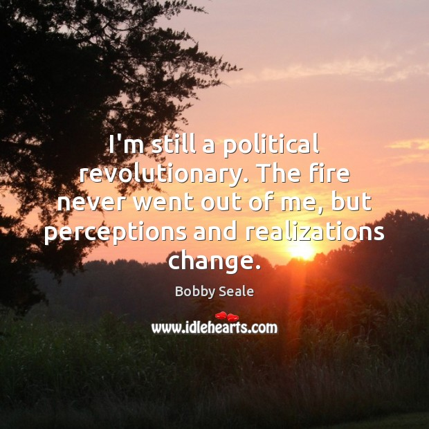 Image, I'm still a political revolutionary. The fire never went out of me,