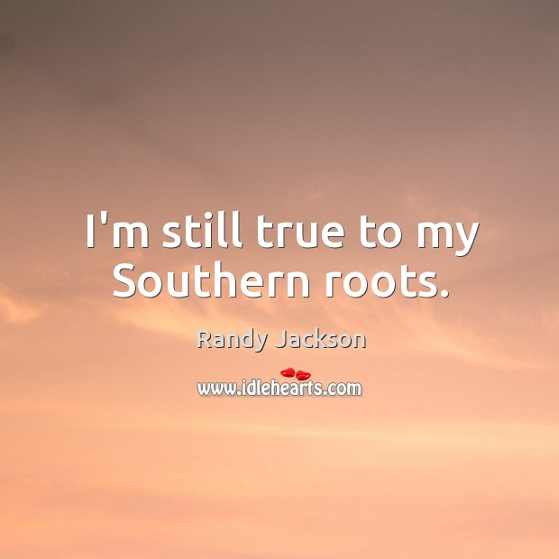 I'm still true to my Southern roots. Randy Jackson Picture Quote