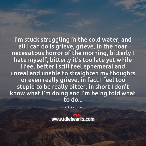I'm stuck struggling in the cold water, and all I can do Hate Quotes Image