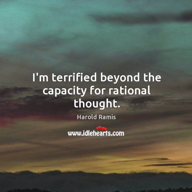 I'm terrified beyond the capacity for rational thought. Image