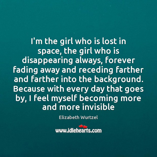 I'm the girl who is lost in space, the girl who is Image