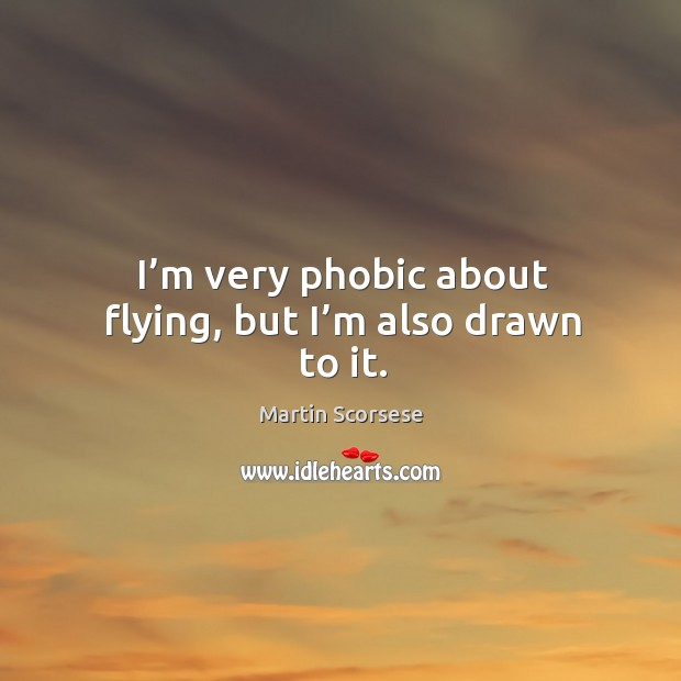 Image, I'm very phobic about flying, but I'm also drawn to it.