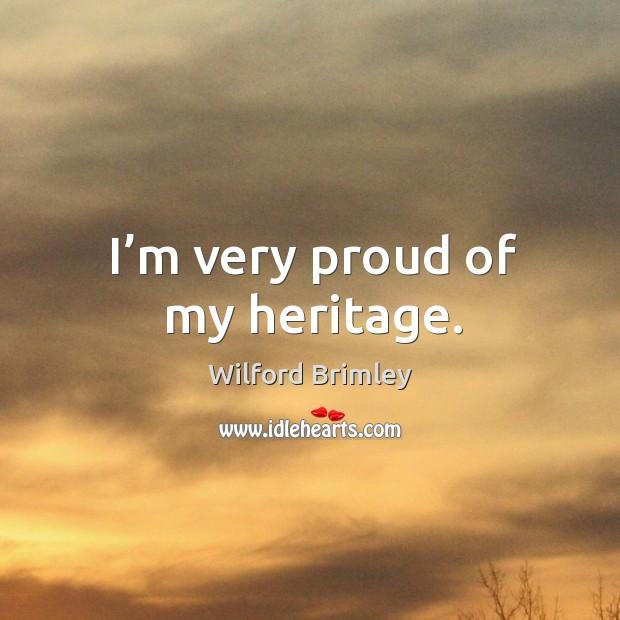 I'm very proud of my heritage. Image