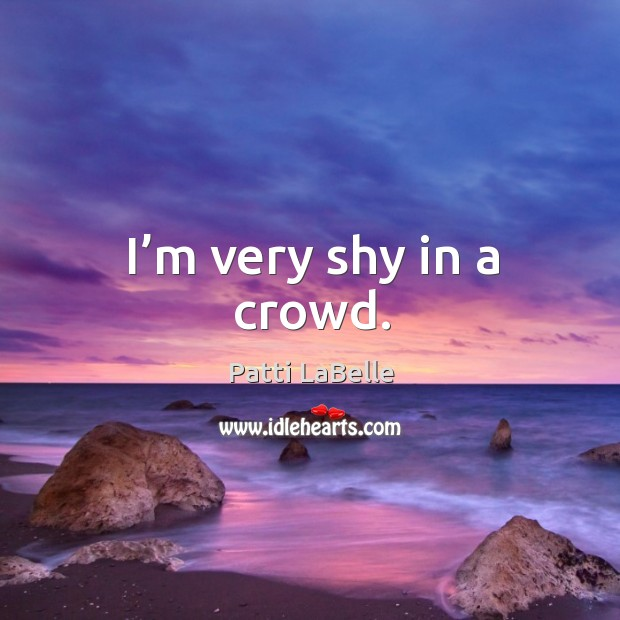 I'm very shy in a crowd. Image