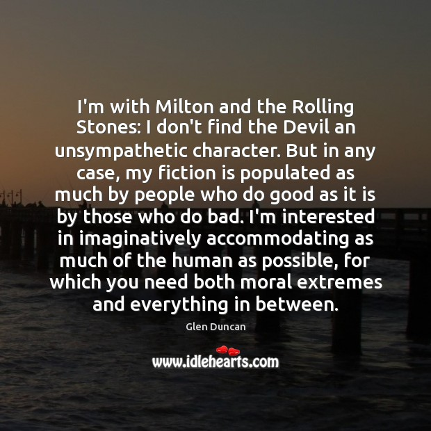 Image, I'm with Milton and the Rolling Stones: I don't find the Devil