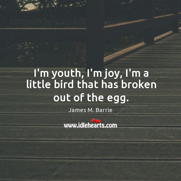 Image, I'm youth, I'm joy, I'm a little bird that has broken out of the egg.