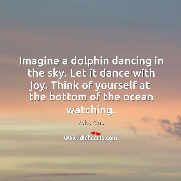 Imagine a dolphin dancing in the sky. Let it dance with joy. Image