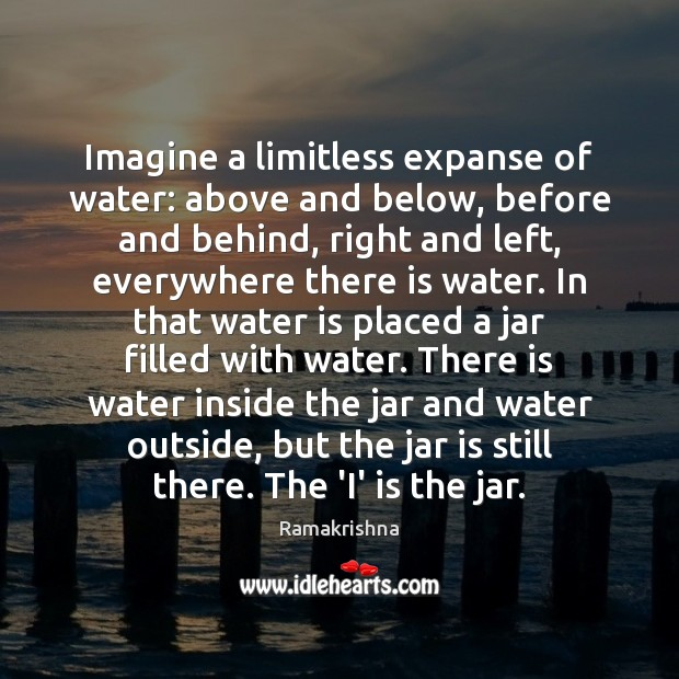 Imagine a limitless expanse of water: above and below, before and behind, Image