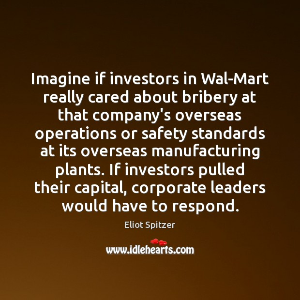 Imagine if investors in Wal-Mart really cared about bribery at that company's Image