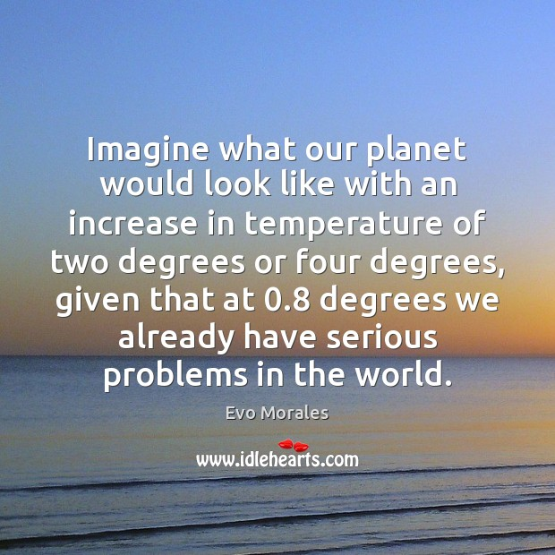 Image, Imagine what our planet would look like with an increase in temperature