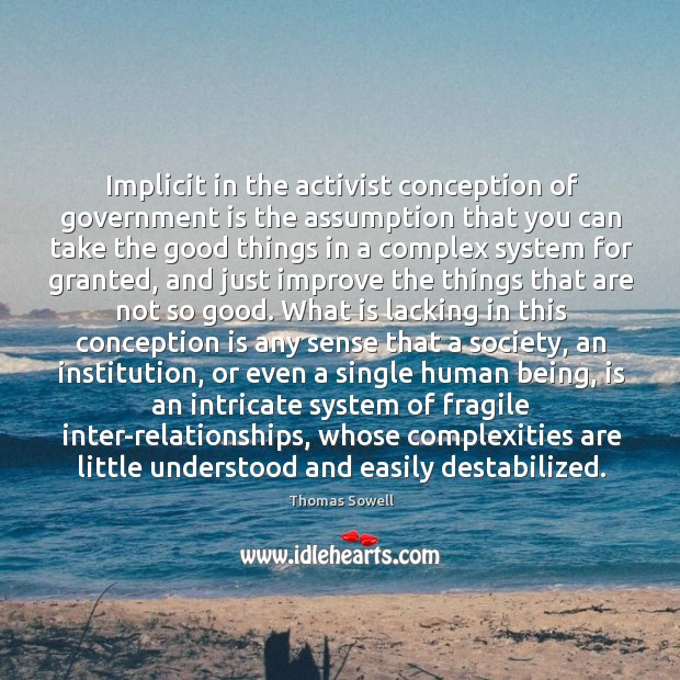 Image, Implicit in the activist conception of government is the assumption that you