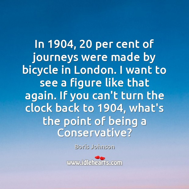 Image, In 1904, 20 per cent of journeys were made by bicycle in London. I