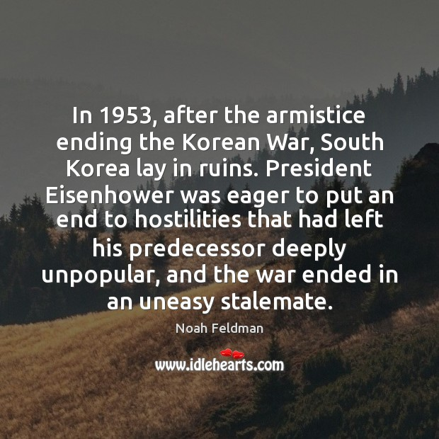 Image, In 1953, after the armistice ending the Korean War, South Korea lay in