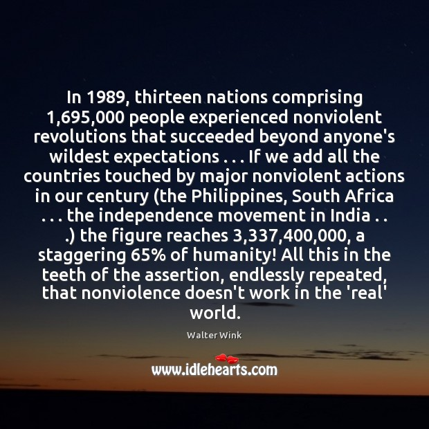 Image, In 1989, thirteen nations comprising 1,695,000 people experienced nonviolent revolutions that succeeded beyond anyone's