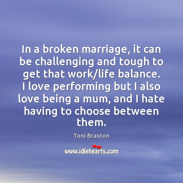 In a broken marriage, it can be challenging and tough to get Image