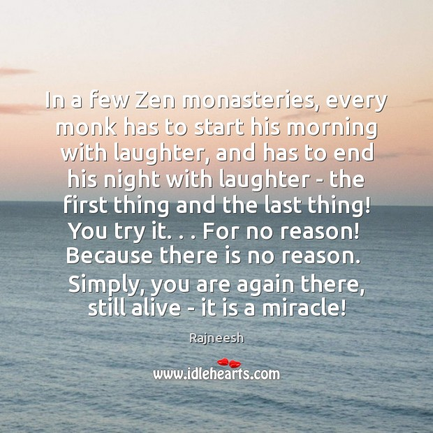 Image, In a few Zen monasteries, every monk has to start his morning