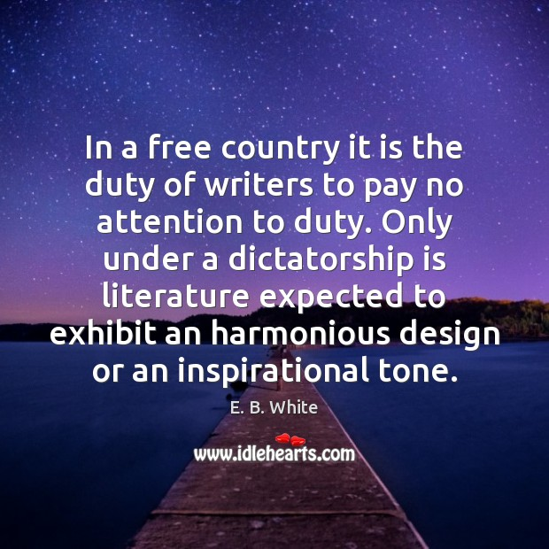 Image, In a free country it is the duty of writers to pay