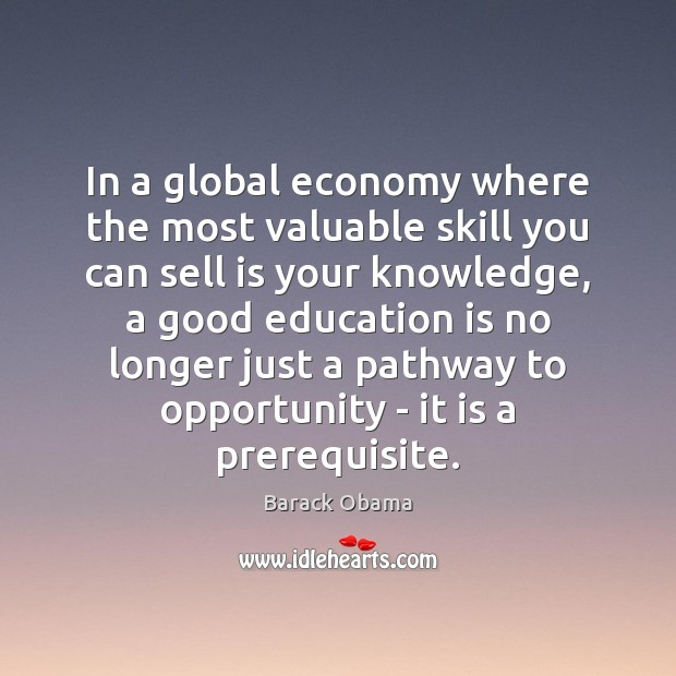 Image, In a global economy where the most valuable skill you can sell