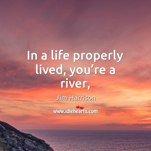 Image, In a life properly lived, you're a river,