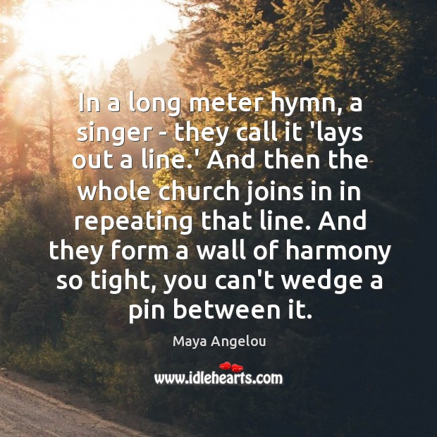 Image, In a long meter hymn, a singer – they call it 'lays