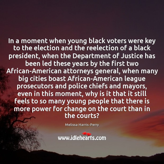 Image, In a moment when young black voters were key to the election