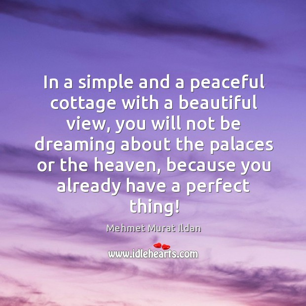 In a simple and a peaceful cottage with a beautiful view, you Image