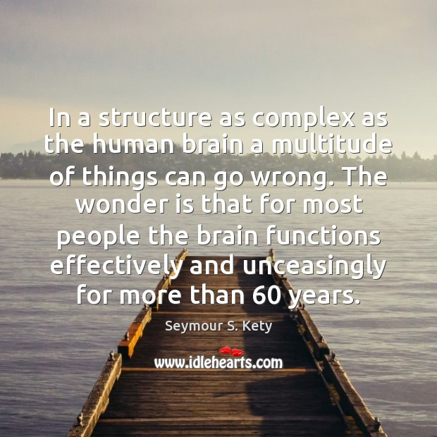 In a structure as complex as the human brain a multitude of Image