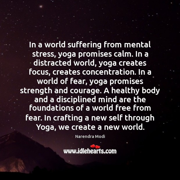 Image, In a world suffering from mental stress, yoga promises calm. In a