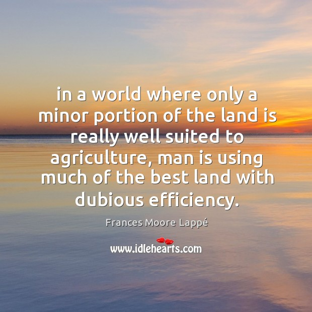 In a world where only a minor portion of the land is Image