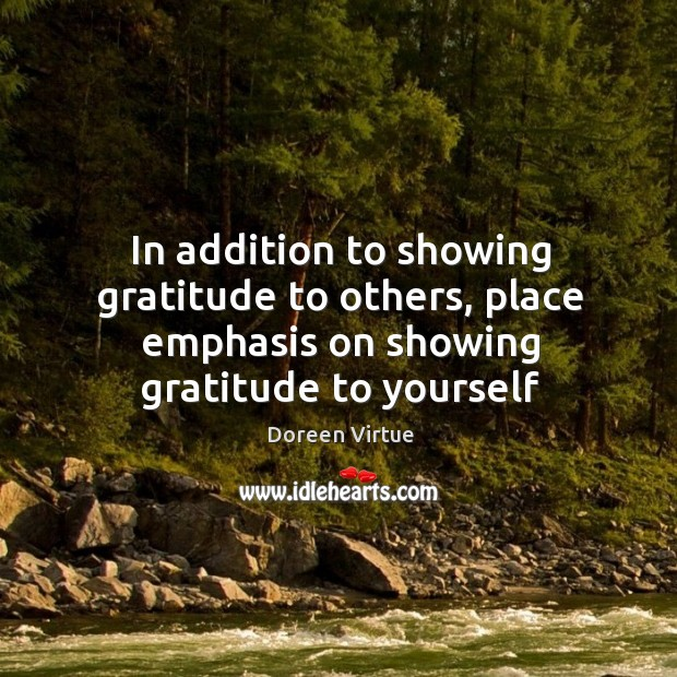 Image, In addition to showing gratitude to others, place emphasis on showing gratitude