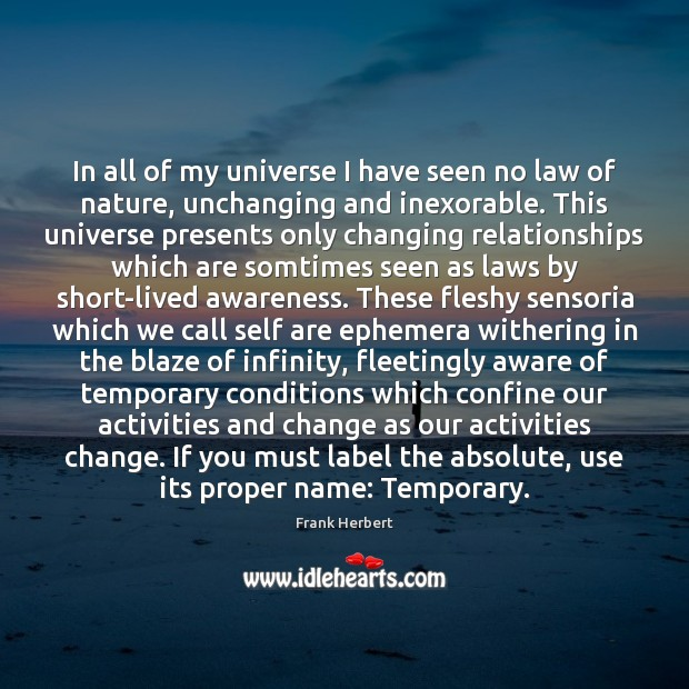In all of my universe I have seen no law of nature, Image