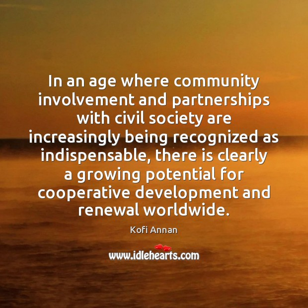 Image, In an age where community involvement and partnerships with civil society are