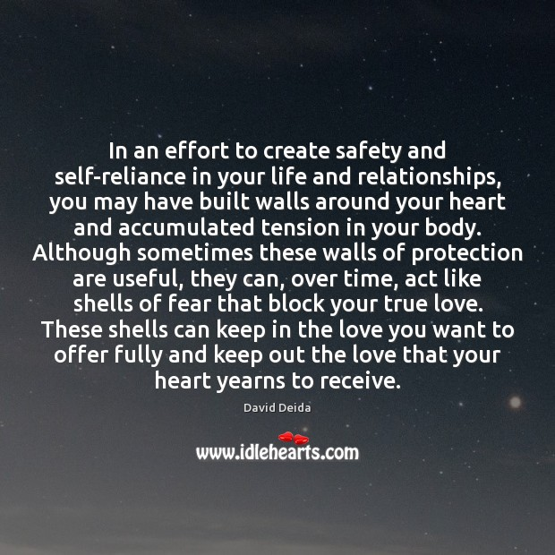 In An Effort To Create Safety And Self Reliance In Your Life And