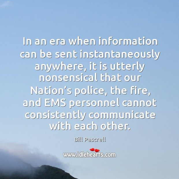 Image, In an era when information can be sent instantaneously anywhere