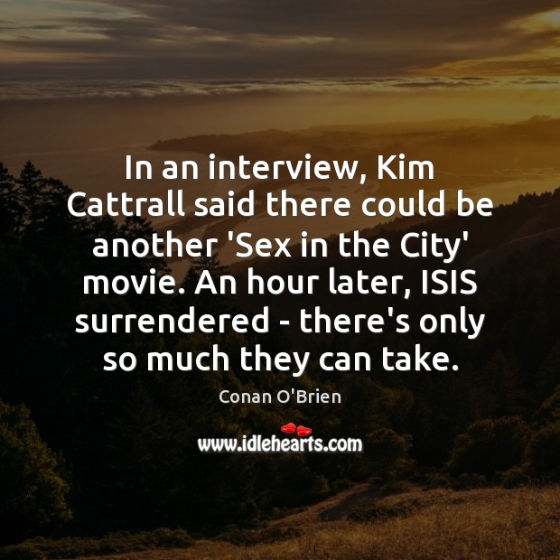 Image, In an interview, Kim Cattrall said there could be another 'Sex in