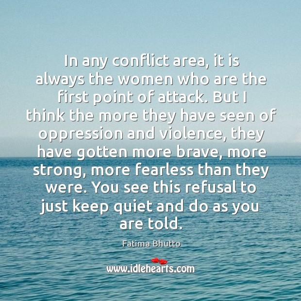 In any conflict area, it is always the women who are the Image